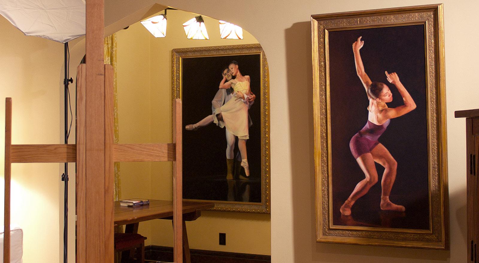 Ballet Paintings by Marie Frances in Studio