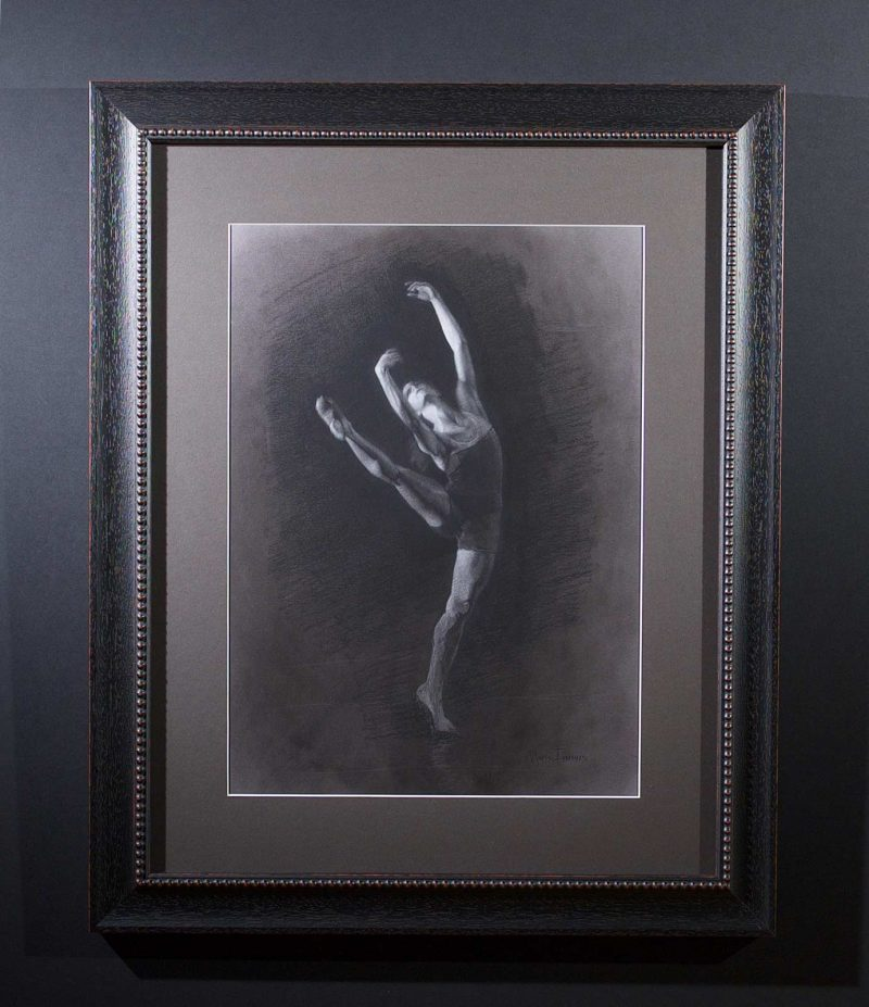 Faith Charcoal Drawing by Marie Frances