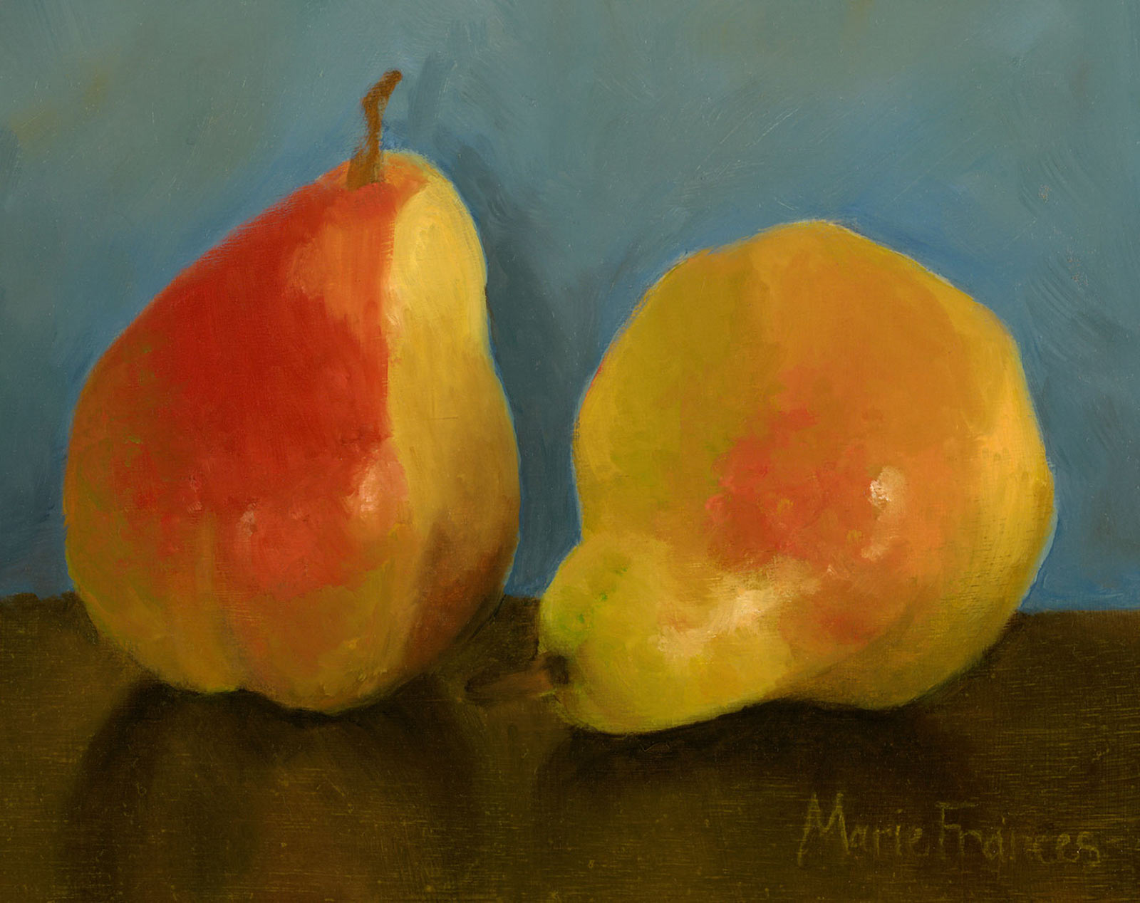 Pears Oil Painting by Marie Frances