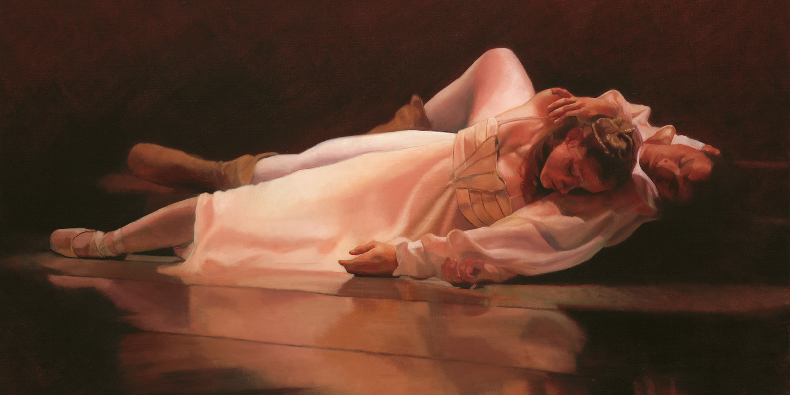 Romeo & Juliet Epilogue Oil Painting by Marie Frances