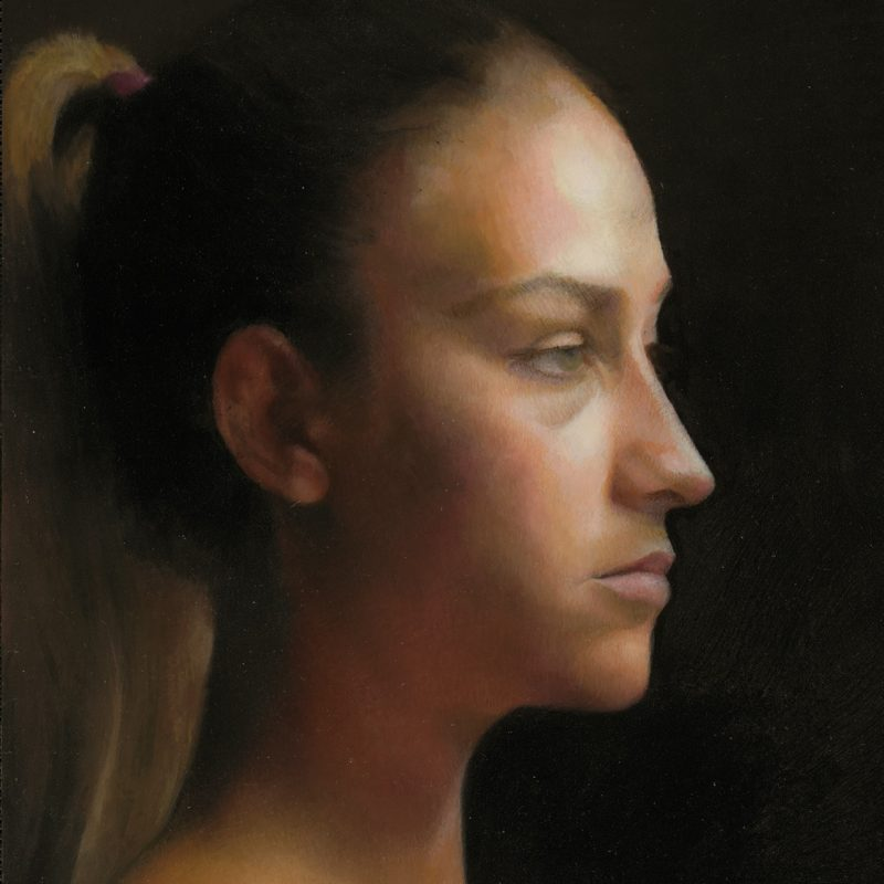 Oil Portrait Painting of Italian Woman by Marie Frances