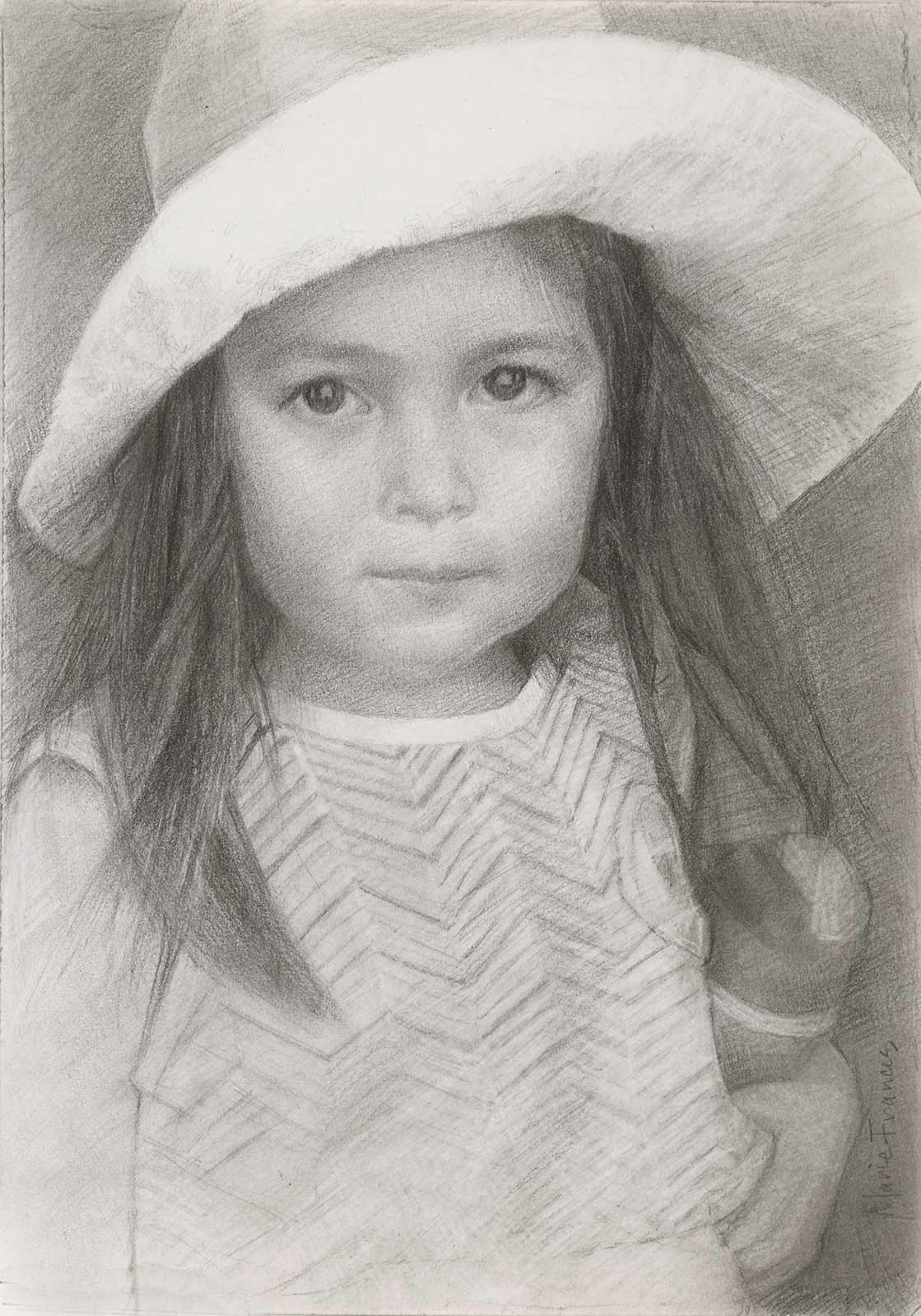 Graphite Portrait of Katherine by Marie Frances