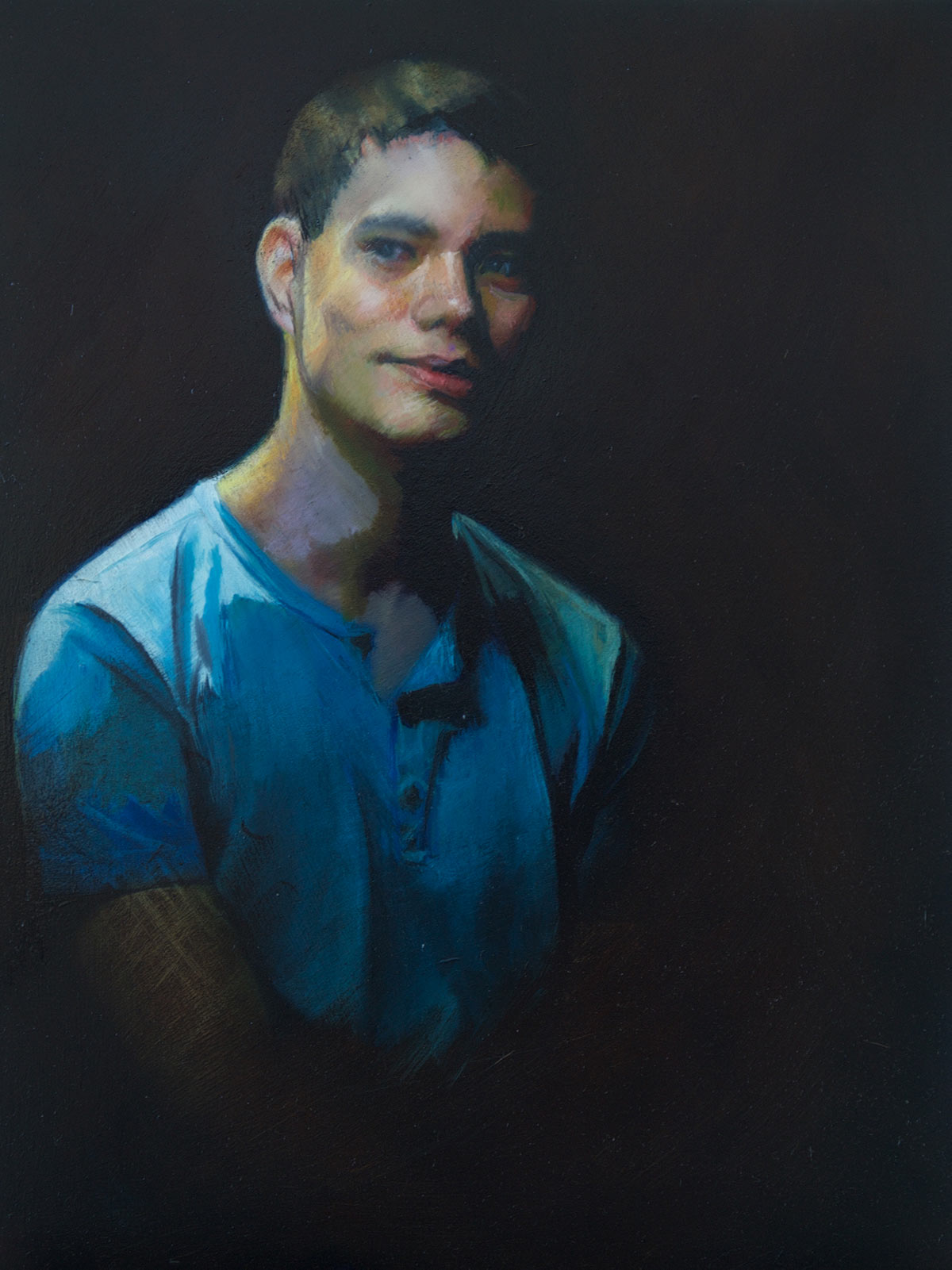 Oil Portrait Painting of Zachary by Marie Frances