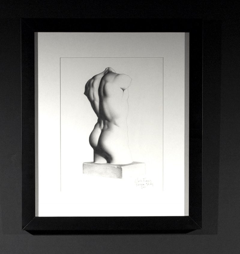 Graphite Drawing of Bargue Plate by Marie Frances