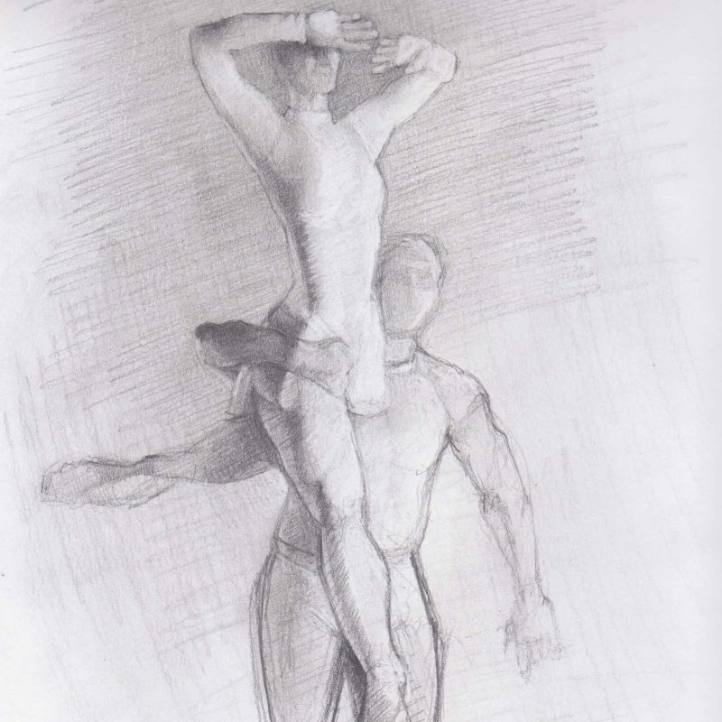 Gesture Sketch of Dancers by Marie Frances