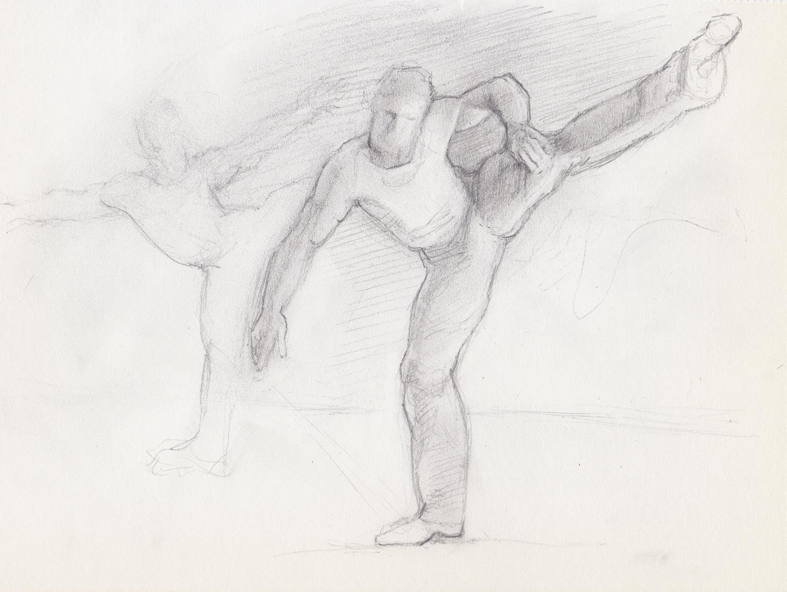 Gesture Sketch of Dancer by Marie Frances