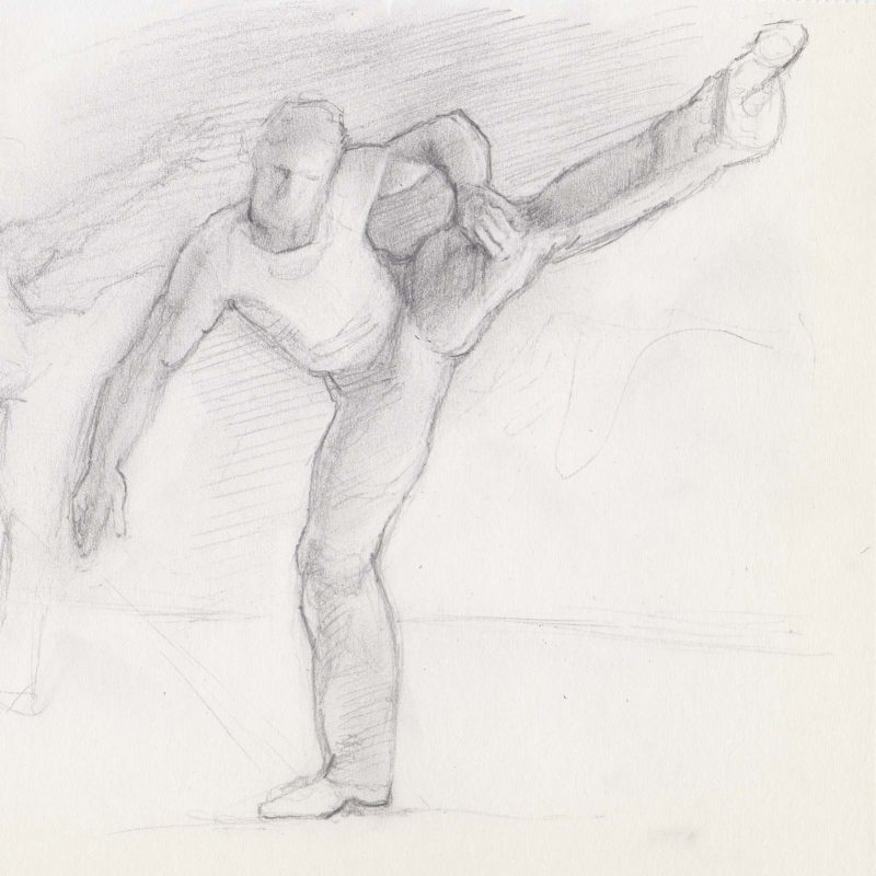 Gesture Sketch of Dancer by Marie Frances
