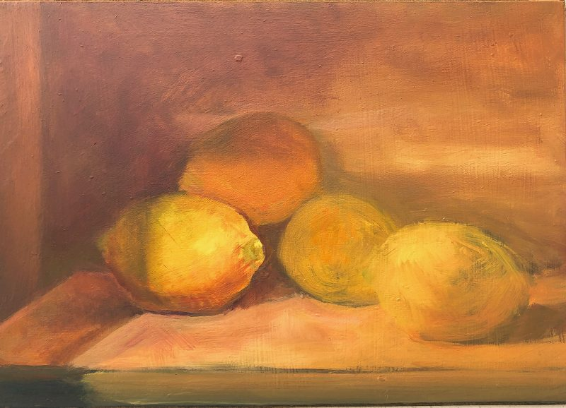 Lemons Oil Painting by Marie Frances