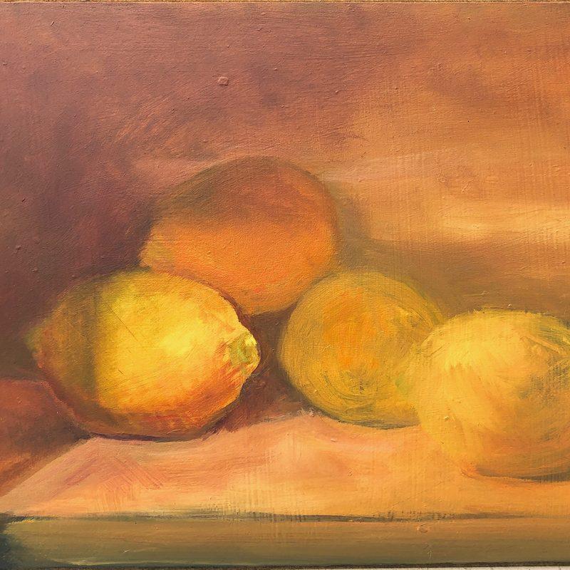 Lemons Oil Painting by Marie Frances