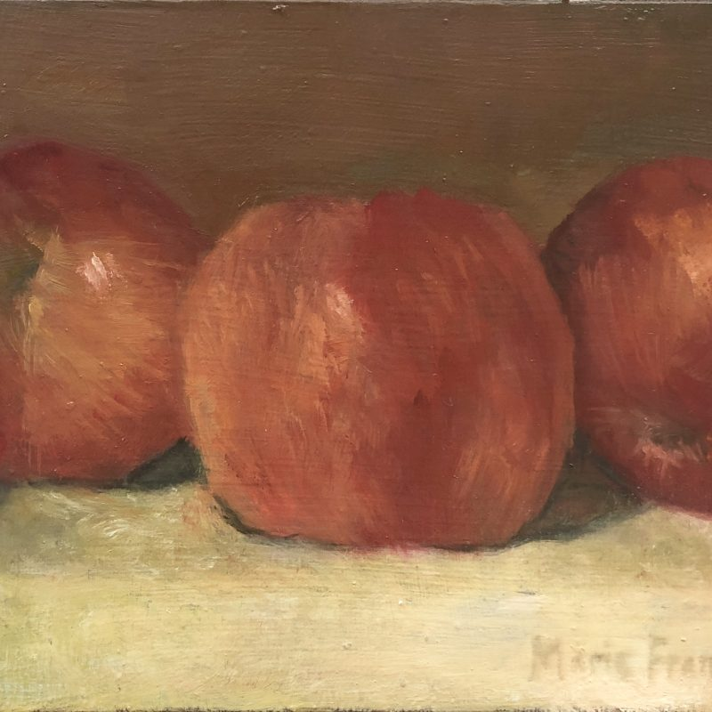 Apples Oil Painting by Marie Frances